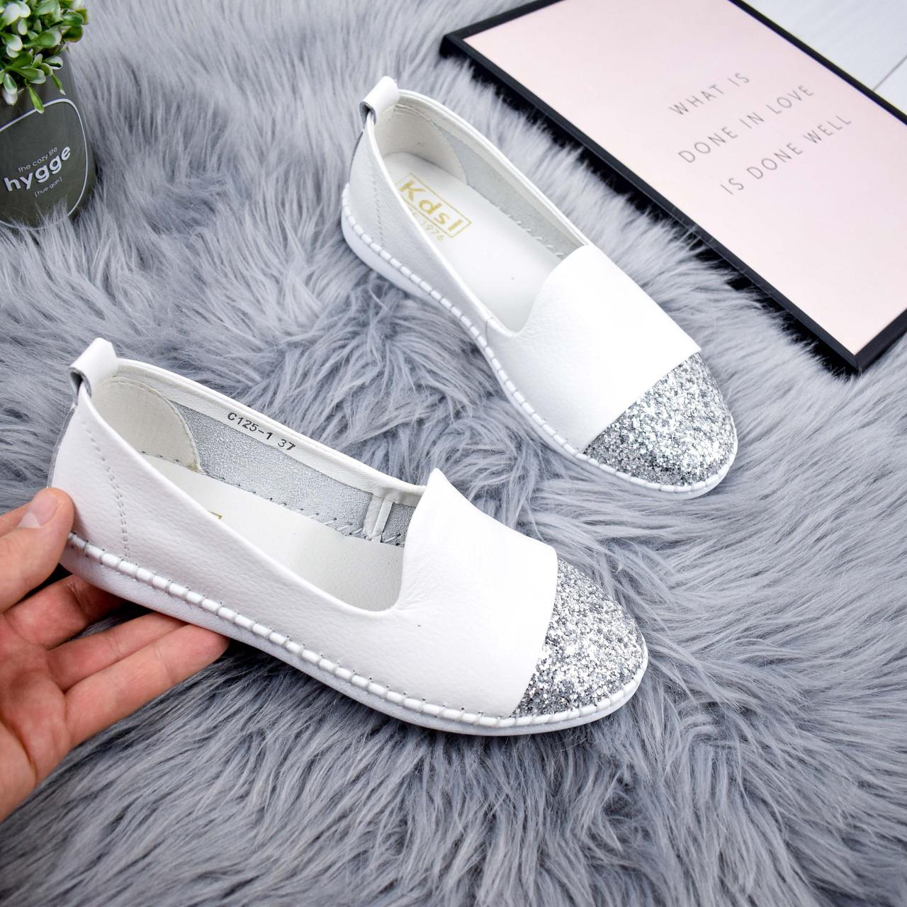 0c865dd707c91 Туфли балетки женские Lorri Белые 7300: продажа, цена в Днепре ...