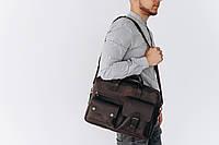 Мужская сумка из натуральной кожи ручной работы 642