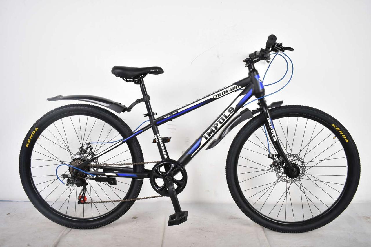 """Велосипед Impuls Colorado 26"""" черно-синий"""