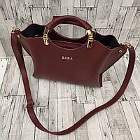e9125b607751 Женская сумка шоппер Zara (Зара), бордовый цвет, цена 515 грн ...