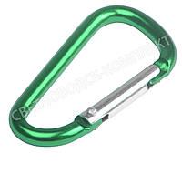 Карабин алюминиевый на рюкзаки и сумки, арт. КР-5013, цв. зеленый