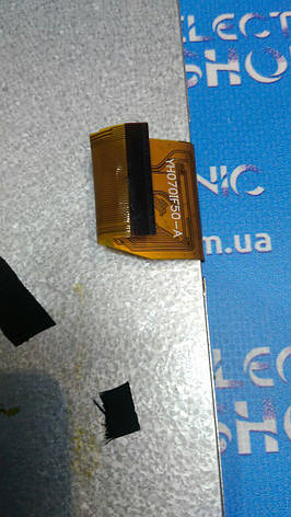 "Дисплей LCD (Екран) 7"" YH070IF50-A 50 pin 164*97мм (1024*600) Original б.у, фото 2"