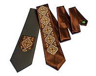 """Атласный галстук с вышивкой """"Мир"""", фото 1"""