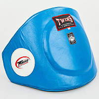 Пояс тренера кожаный TWINS синий VL-8201-B