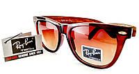 Солнцезащитные очки Ray Ban Tech 3010 C5 wayfarer (вайфарер) в коричневой оправе с широкими дужками под дерево
