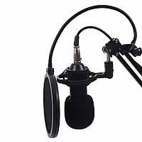 Студийный микрофон Music M-800U со стойкой и ветрозащитой