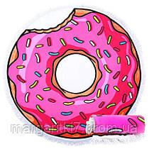 Круглое Покрывало Пончик, 150 см + бахрома