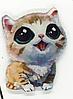 Брошка брошка значок рудий кіт кішка кошеня акрил глазастик як живий, фото 3