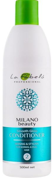 Акція -35% Кондиционер La Fabelo MB Smooth Gloss для гладкости и блеска  300 мл
