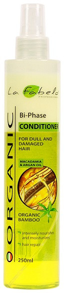 Акція -35% Кондиционер для волос La Fabelo Organic Bi-phase conditioner двухфазный с органическим экстрактом бамбука, маслом арганы и макадамии,  250