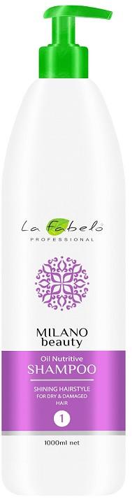 Акція -35% Шампунь La Fabelo MB Oil Nutritive питательный для сухих волос 1000 мл