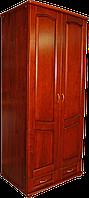 Шкаф 2-х створчатый из натурального дерева ТеМП