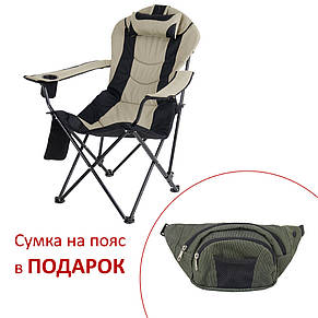 """Кресло """"Директор"""" d19 мм (черный-беж), фото 2"""