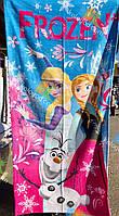 Полотенце Детское Пляжное Велюровое Дисней Холодное Сердце Frozen 75X150