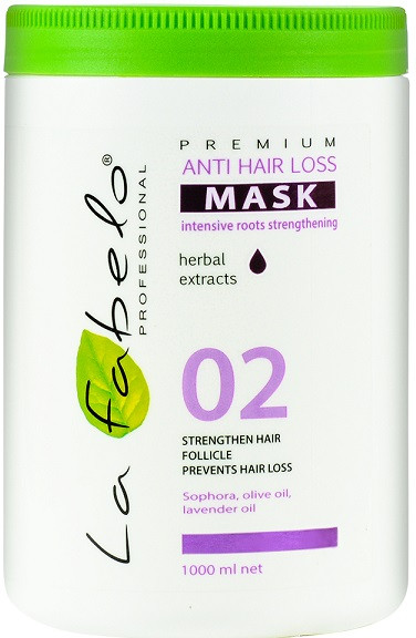 Акція -35% Маска La Fabelo Premium 02 Anti hair loss против выпадения волос , 1000 мл