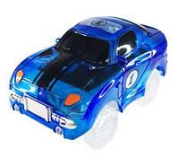 Машинка Magik Track машинка для трассы Меджик Трек Машинка на 3 батарейки и 5 светодиодов