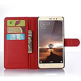 Чехол-книжка Bookmark для Xiaomi Redmi Note 3 red, фото 4