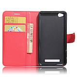 Чехол-книжка Bookmark для Xiaomi Redmi 4A red, фото 4