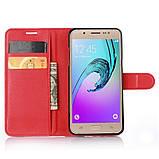 Чехол-книжка Bookmark для Samsung Galaxy J5 2016/J510 red, фото 4