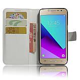 Чехол-книжка Bookmark для Samsung Galaxy J2 Prime white, фото 4