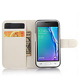 Чехол-книжка Bookmark для Samsung Galaxy J1 Duos Mini white, фото 4