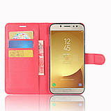 Чехол-книжка Bookmark для Samsung Galaxy J7 2017/J730 red, фото 4