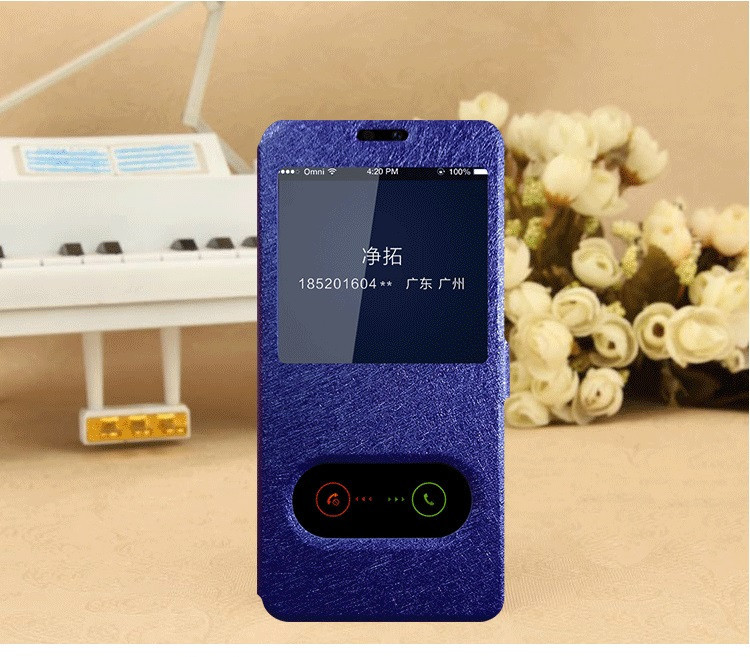 Чехол-книжка Holey для Huawei P Smart Plus blue
