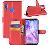 Чехол-книжка Bookmark для HUAWEI Nova 3i red, фото 4