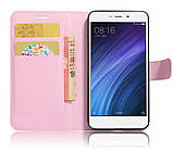 Чехол-книжка Bookmark для Xiaomi Redmi 4A light pink, фото 3
