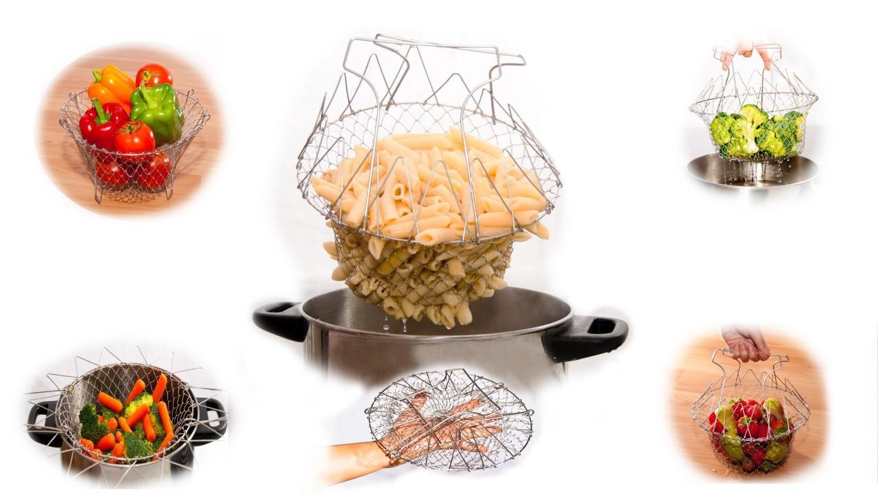 """Универсальная складная решетка Шеф Баскет (Chef Basket), Качество - Интернет-магазин """"СКАРБНИЧКА"""" в Черноморске"""