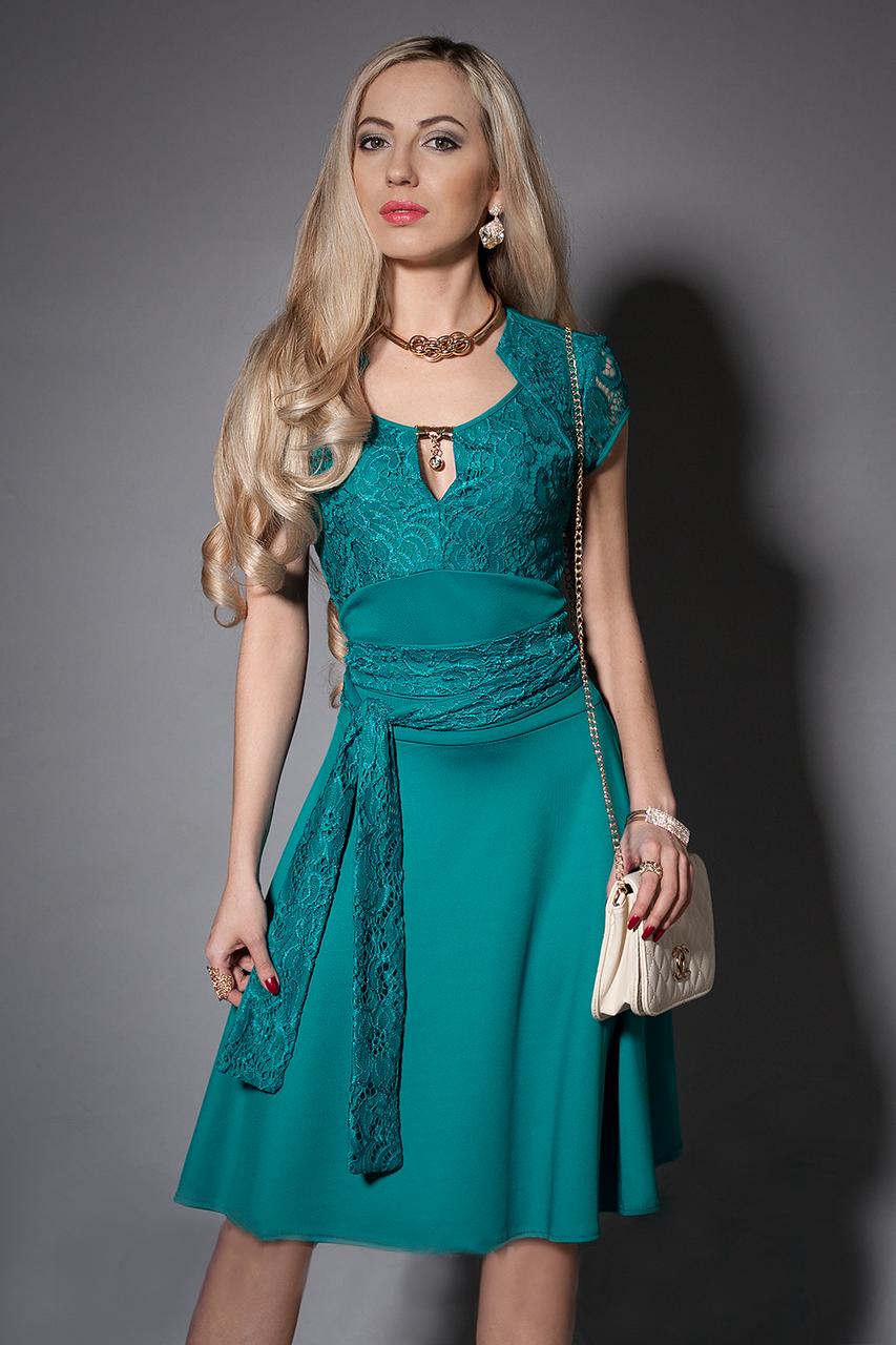 Нарядное женское платье с гипюром, размеры 44 - 54 - Оптово-розничный  интернет- 5433697804a