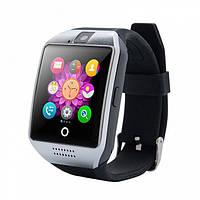 UWatch Умные часы мужские Smart Q18 Black черные. Смарт часы