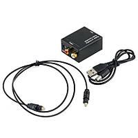 ЦАП аудио конвертер Toslink, коаксиал - аналог RCA Цифро-аналоговый аудио конвертер