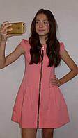 """Летнее платье для девочки """"Каролина"""" розовый корал . Детская одежда оптом."""
