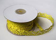 Тасьма декоративна вьюнчик жовта