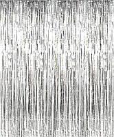 Шторка фольгированная для фотозоны, Цвет: Серебро. Размер: 2м*1м