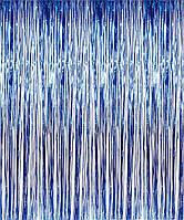 Шторка фольгированная для фотозоны, Цвет: Синий. Размер: 2м*1м