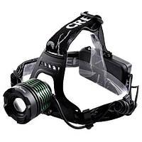 Налобный фонарь Bailong Police BL 2189 T6 аккумуляторный с зумом zoom