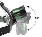 Налобный фонарь Bailong Police BL 2189 T6 аккумуляторный с зумом zoom, фото 4