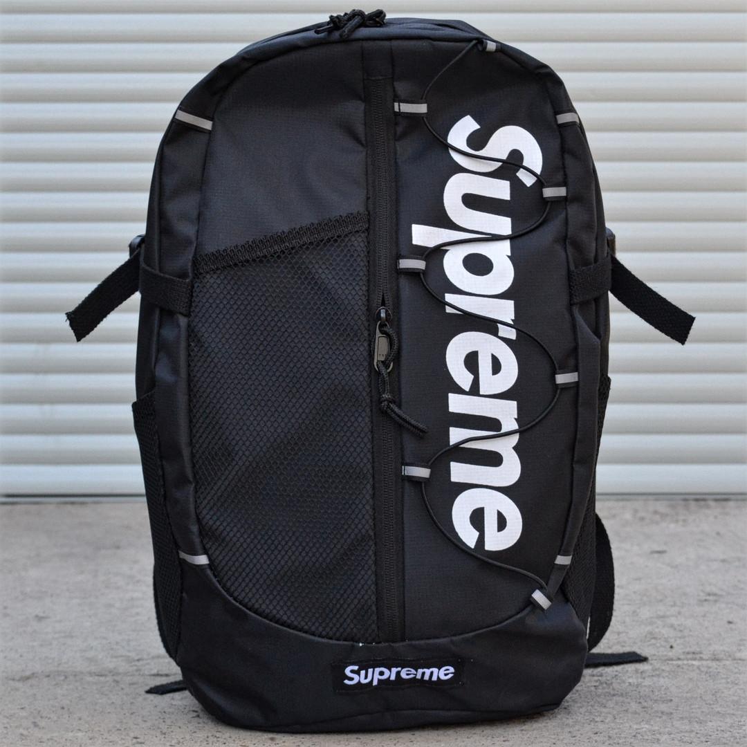 Рюкзак Supreme Black. Стильный городской рюкзак.