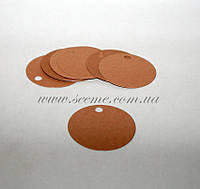 Тэги из дизайнерского картона круглые 60 мм., 10 шт