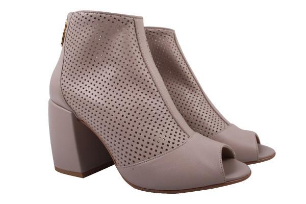 Ботинки Lottini натуральная кожа, цвет бежевый