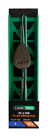 Готовая оснастка на ледкоре Carp Pro In-line Flat Pear №4 56 г