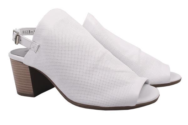 Босоножки женские на каблуке Ripka из натуральной кожи, цвет белый