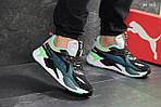 Мужские кроссовки Puma RS Running System (зелено/серые), фото 4