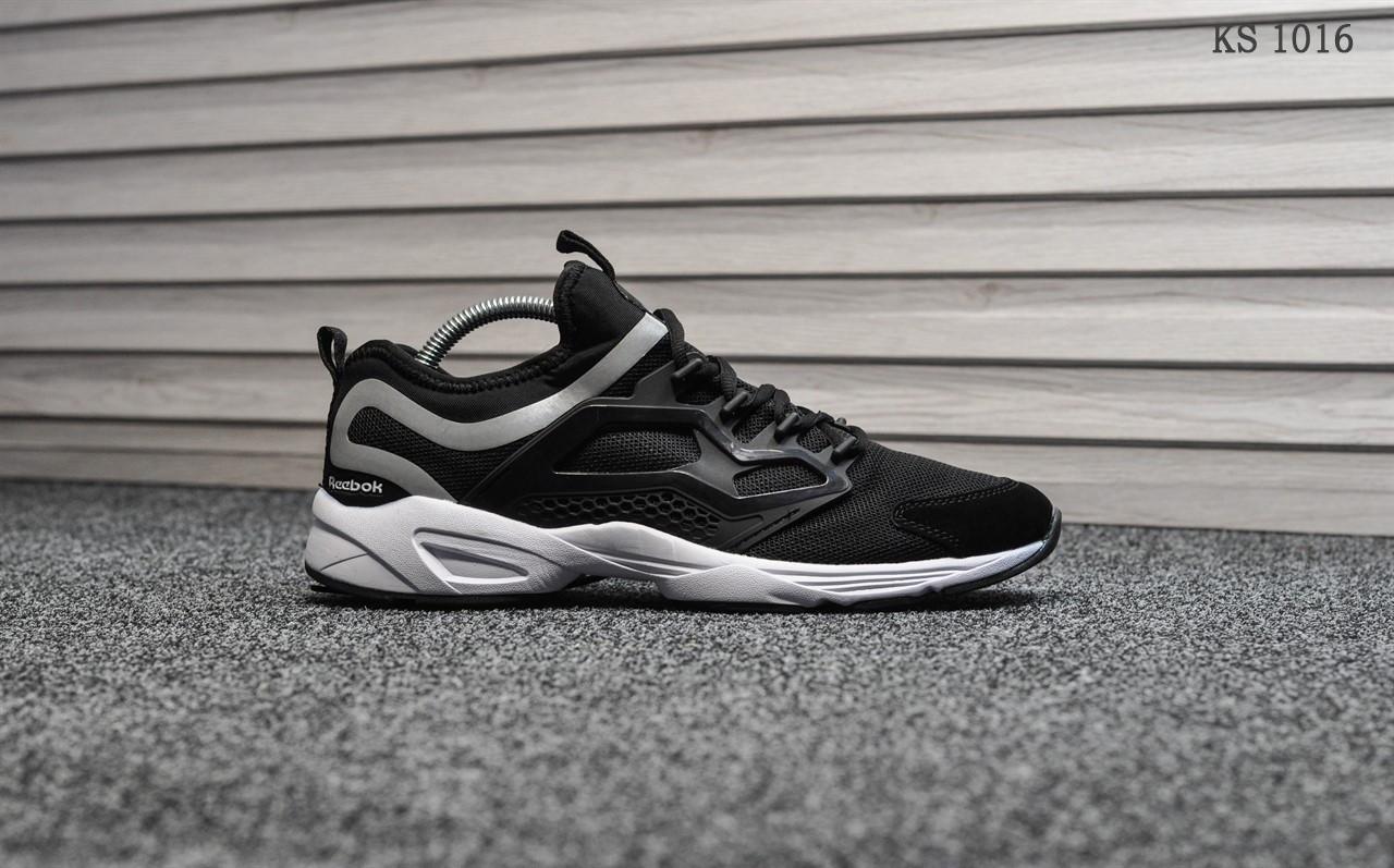 Мужские кроссовки Reebok Fury (черно/белые)