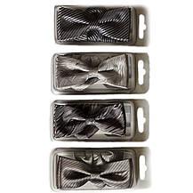 Галстуки- бабочки для мальчиков Dunpillo серые с платком в карман, фото 2