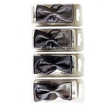 Галстуки- бабочки для мальчиков Dunpillo серые с платком в карман, фото 3