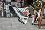 Мужские кроссовки Reebok DMX (серо/оранжевые), фото 3