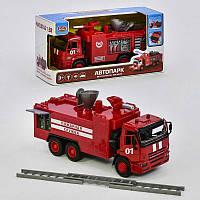 Машина 9624A модель Пожарная брызгает водой, свет, звук